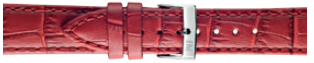 Morellato klokkerem Bolle X2269480183CR24 / PMX183BOLLE24 Krokodilleskinn Rød 24mm + standard sømmer