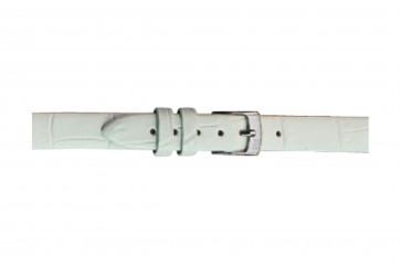 Morellato klokkerem Thin D2860656017CR08 / PMD017THINA08 Krokodilleskinn Hvit 8mm