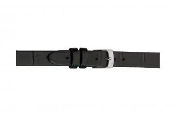Morellato klokkerem Thin D2860656019CR08 / PMD019THINA08 Krokodilleskinn Svart 8mm
