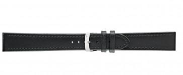 Morellato klokkerem Basket XL K3151237019CR24 / PMK019BASKET24 Glatt lær Svart 24mm + standard sømmer