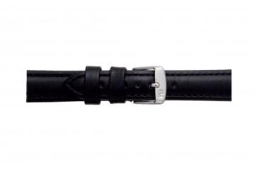 Morellato klokkerem Botero U2226364019CR24 / PMU019BOTERL24 Glatt lær Svart 24mm + standard sømmer