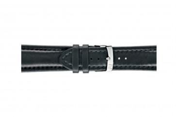 Morellato klokkerem Wide U4026A37019CR28 / PMU019WIDE28 Glatt lær Svart 28mm + standard sømmer