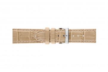 Morellato klokkerem Bolle X2269480027CR24 / PMX027BOLLE24 Krokodilleskinn Kremhvit / Beige 24mm + standard sømmer