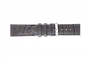 Morellato klokkerem Bolle X2269480090CR24 / PMX090BOLLE24 Krokodilleskinn Antrasittgrå 24mm + standard sømmer