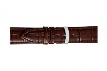 Morellato klokkerem Extra X3395656032CR24 / PMX032EXTRA24 Krokodilleskinn Brun mørk 24mm + standard sømmer