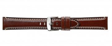 Morellato klokkerem Giorgione X4272B12034CR24 / PMX034GIORGI24 Glatt lær Brun mørk 24mm + søm hvit