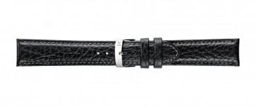 Morellato klokkerem Fresbee X4335713019CR24 / PMX019FRESBEI24 Lær Svart 24mm + standard sømmer