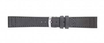 Morellato klokkerem Ginepro X4472A39091CR24 / PMX091GINEPR24 Glatt lær Grå 24mm + standard sømmer