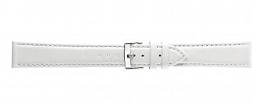 Morellato klokkerem Bolle XL Y2269480017CR24 / PMY017BOLLE24 Krokodilleskinn Hvit 24mm + standard sømmer