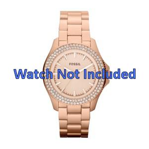 Fossil klokkerem AM4454 Stål Gull (Rosé) 18mm