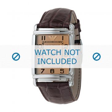 Klokkerem Armani AR0403 Lær Brun 22mm