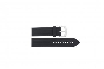 Klokkerem Armani AR0527 / AR5826 / Vanille Silikon Svart 23mm