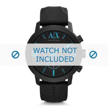 Armani klokkerem AX-1356 Silikon Svart 24mm
