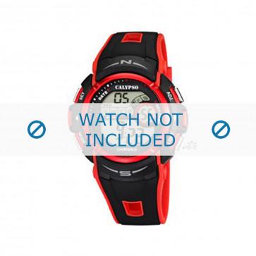 Klokkerem Calypso K5610.5 Gummi Rød 22mm
