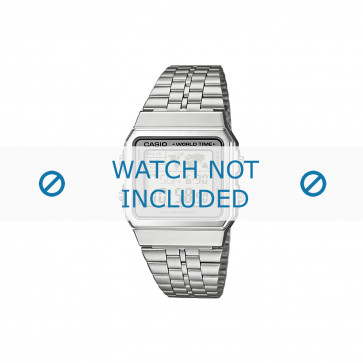 Casio klokkerem A500WEA-7EF / A500WEA-7 Stål Sølv 18mm