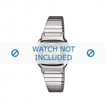 Casio klokkerem LA670WEA-1EF / LA670WEA-1 Stål Sølv 13mm