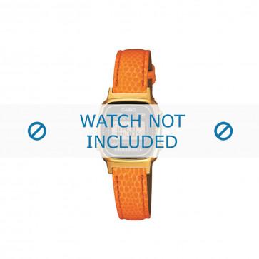 Klokkerem LA670WEGL-4A2EF / LA670WEGL-4A2 / 10487172 Lær Oransje 14mm