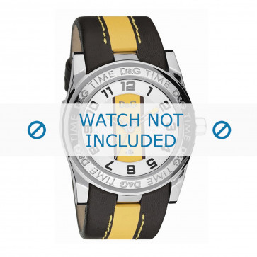 Dolce & Gabbana klokkerem DW0215 Lær Svart + søm gul