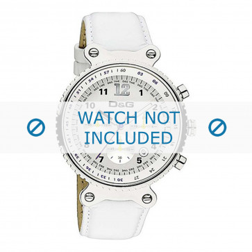 Dolce & Gabbana klokkerem DW0305 Lær Hvit + søm hvit
