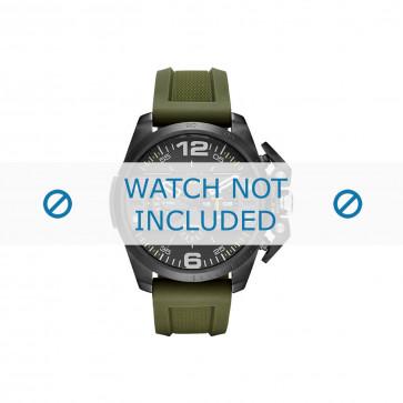 Diesel klokkerem DZ4391 Silikon Olivengrønn 24mm