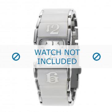 Diesel klokkerem DZ5043 Rustfritt stål Hvit 21mm