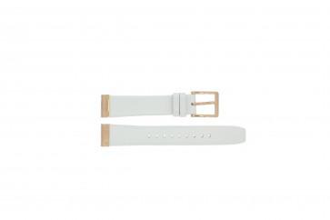 Klokkerem DKNY NY8516 Lær Hvit 18mm