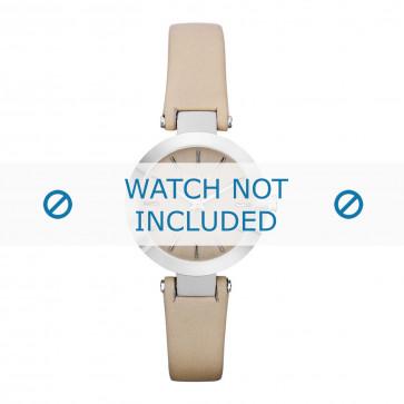 DKNY klokkerem NY8783 Lær Kremhvit / Beige 13mm + standard sømmer