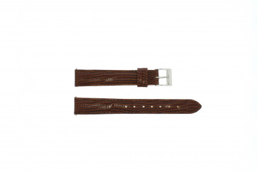 klokkerem i ekte lær krokodille brun 16mm EX-G62