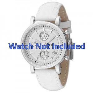 Klokkerem Fossil ES2202 Lær Hvit 18mm