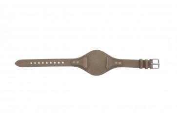 Klokkerem Fossil ES3625 Lær Beige 18mm