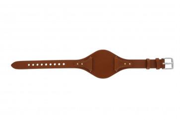Fossil klokkerem ES3837 Lær Oransje 18mm