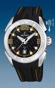 Klokkerem Festina F16505/5 Gummi Svart 26mm