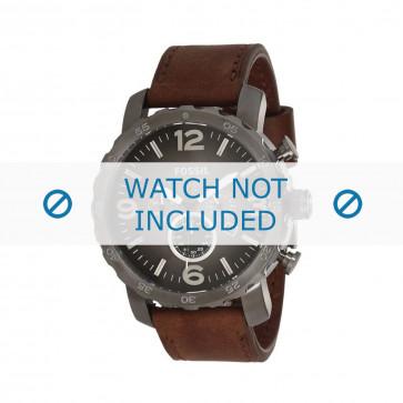 Fossil klokkerem JR-1424 Lær Brun 24mm