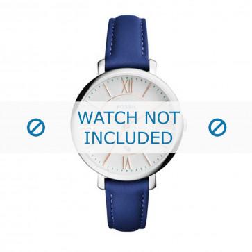 Fossil klokkerem ES3986 Lær Blå 14mm + søm blå