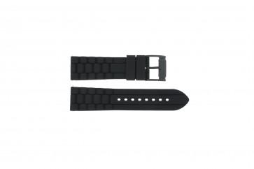 Klokkerem Fossil FS4487 / FS4628 / FS4605 / JR1425 Silikon Svart 24mm