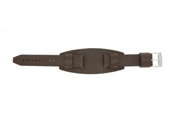 Fossil klokkerem JR1395 Lær Brun 20mm