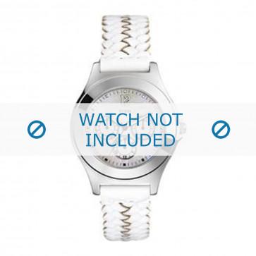 Guess klokkerem G70453L / 95278L1 Lær Hvit + søm hvit