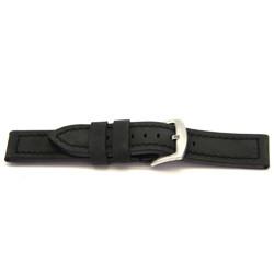 klokkerem ekte lær svart 22mm H103