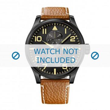 Klokkerem Hugo Boss HB1513082 / HB-88-1-34-27 / HB-88-1-34-2733 Lær Konjakk 24mm