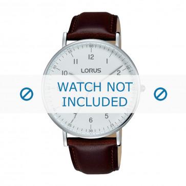 Lorus klokkerem VJ21 X071 / RH895BX9 Lær Brun 20mm + søm brun