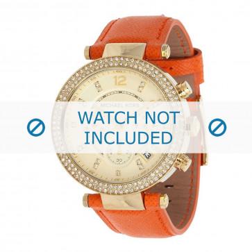 Michael Kors klokkerem MK2279 Parker Lær Oransje 20mm + søm orange