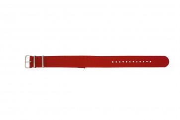 Klokkerem EX-WH30 Tekstil Rød 22mm