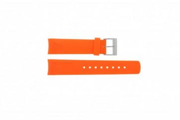 Klokkerem Nautica A16567G / A16567G / A31505G / N14538G / N19523 Gummi Oransje 22mm