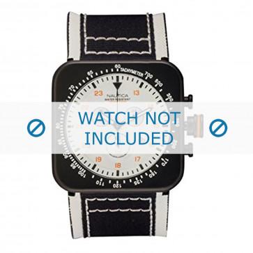 Nautica klokkerem A21501 Lær Hvit + søm hvit