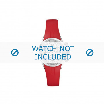 Nautica klokkerem N13536L  Gummi / plast Rød