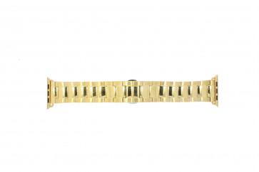 Apple (erstatning modell) klokkerem LS.AB.106 Stål Gull (Doublé) 42mm