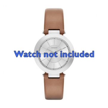 Klokkerem DKNY NY2293 Lær Konjakk 10mm