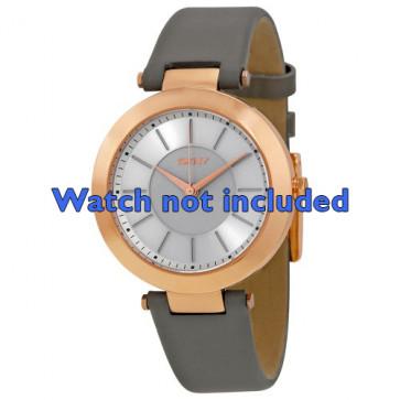 Klokkerem DKNY NY2296 Lær Grå 10mm