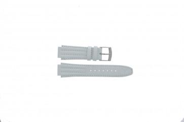 Klokkerem Seiko 7T92-0HD0 / SND875P1 / 4LE7JB Lær Hvit 16mm