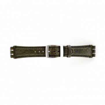 Klokkerem Swatch SC14.11 Lær Grønn 19mm